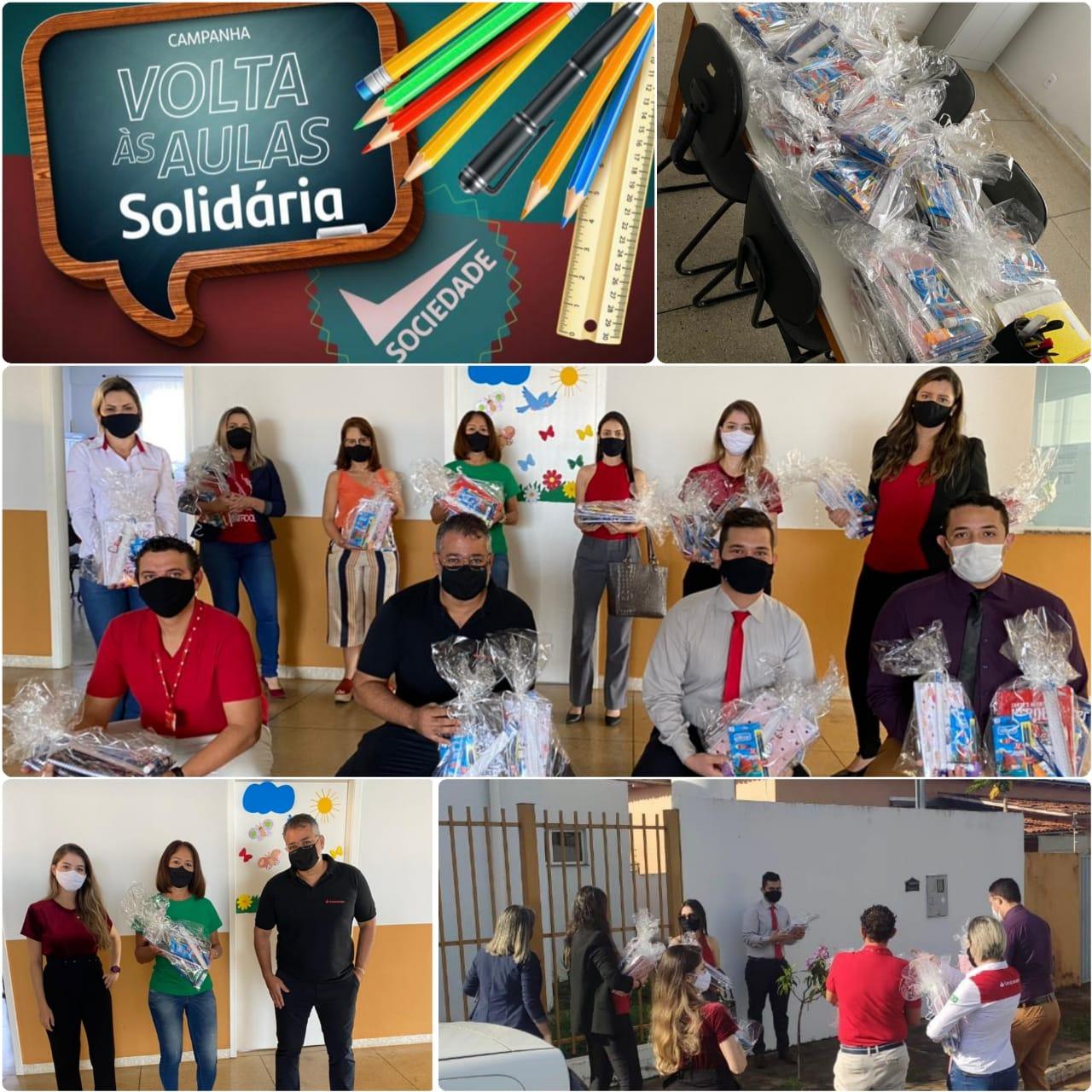 Ação volta as aulas solidária